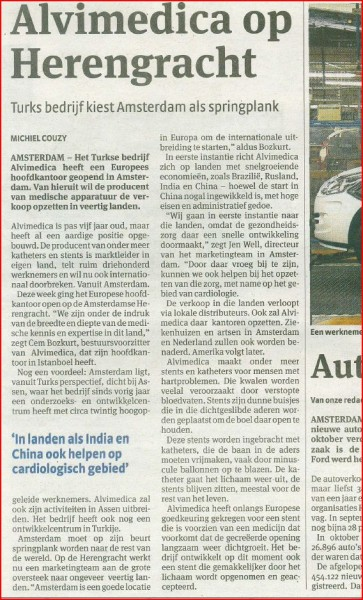 Dutch media coverage for Alvimedica | Case St…