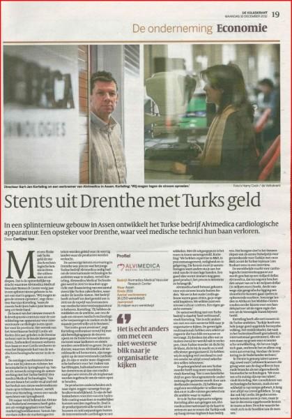 Alvimedica in De Volkskrant (30-12-2012)