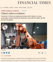 China's Robot Revolution, FT